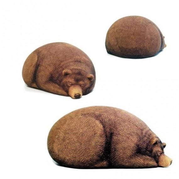 pouf billes en forme d 39 ours grizzly. Black Bedroom Furniture Sets. Home Design Ideas