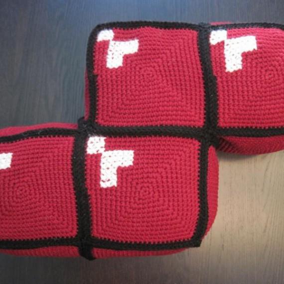 Coussin forme Tetris