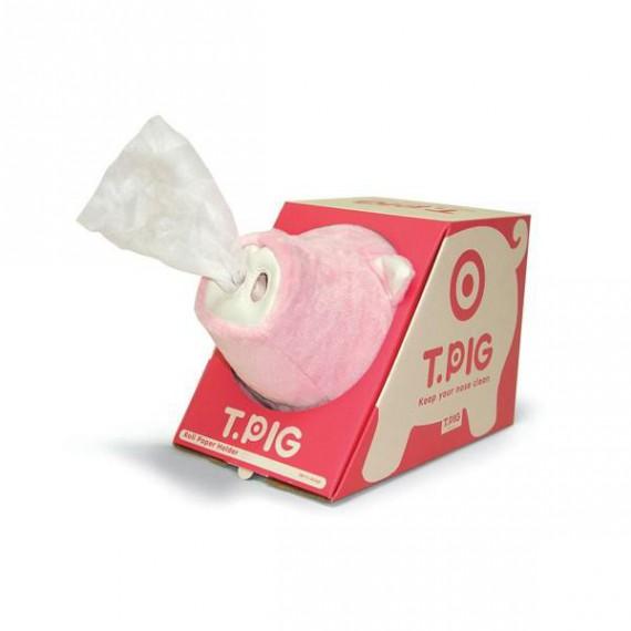 Dérouleur Papier Toilette Cochon