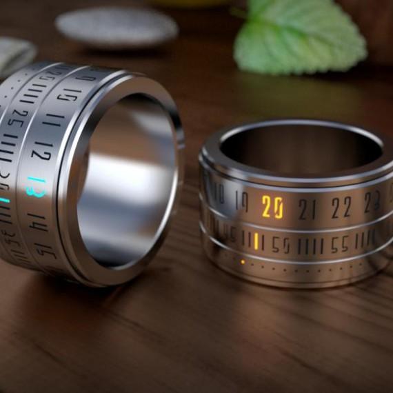 Bague montre futuriste