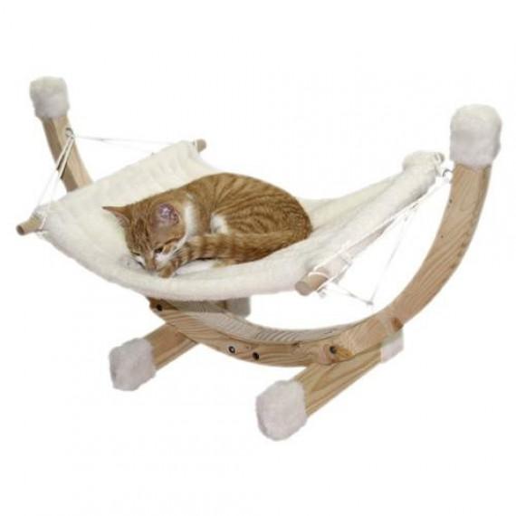 Accueil > Maison > Hamac pour chat support en bois