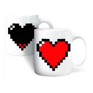 Le mug coeur pixels