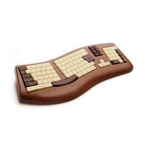 Le clavier d'ordinateur en chocolat