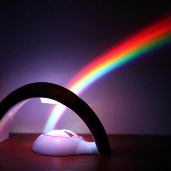 Lampe projection arc-en-ciel