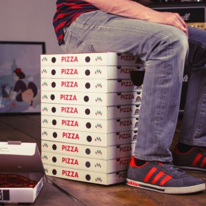 Tabouret Boîtes de pizzas en carton