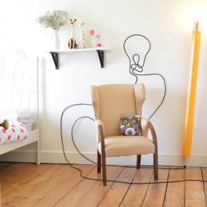 Lampe crayon de bois