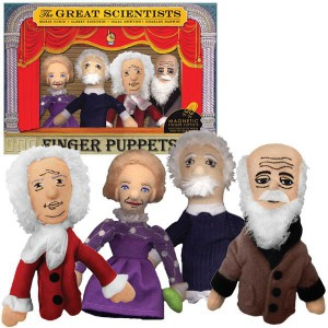 Marionnettes doigts des plus grands scientifiques