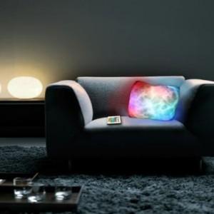 Coussin lumineux télécommande LED