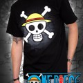 One Piece T-Shirt Logo sur Carte Noir