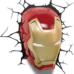 Lampe Murale 3D Marvel Iron Man