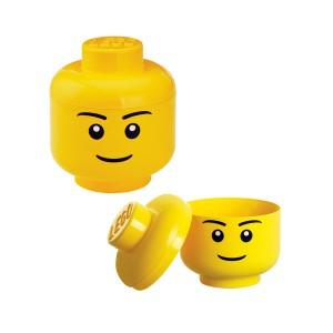 Boîte de rangement petite tête LEGO
