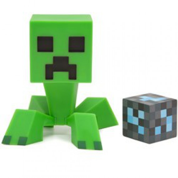 Figurine Minecraft Creeper avec Bloc de Diamant