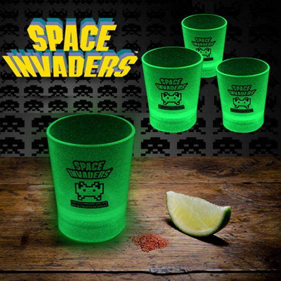 Shooters Space Invaders phosphorescents x4