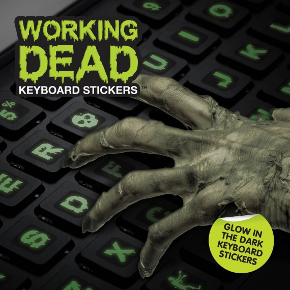 Stickers clavier working dead