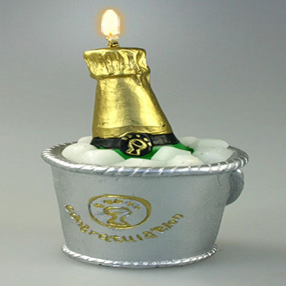Bougie en champagne