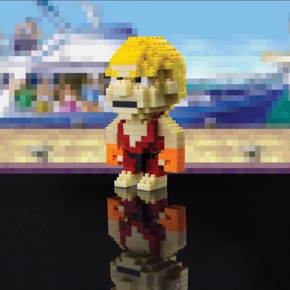 Ken de Street fighter pixelisé à construire