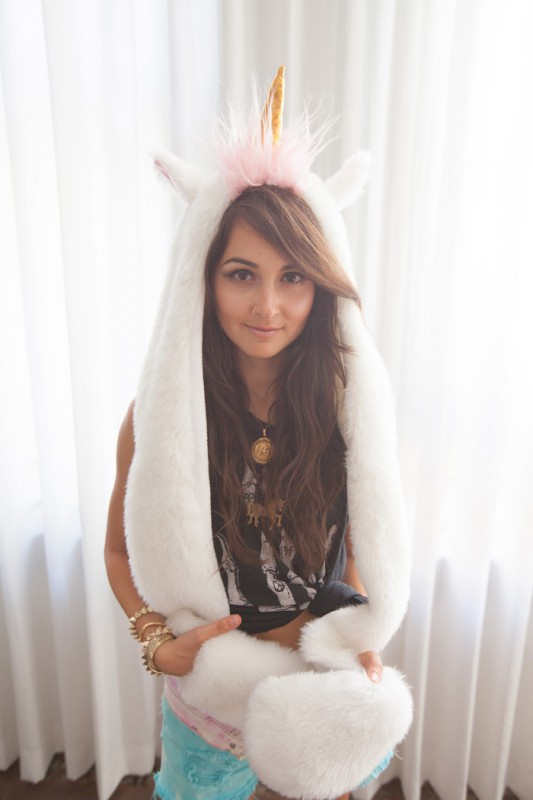 Bonnet gants licorne Magicorn; Bonnet gants licorne Magicorn