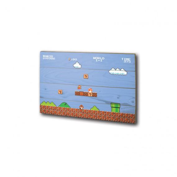 Panneau en bois Nintendo Plateau Super Mario Bros