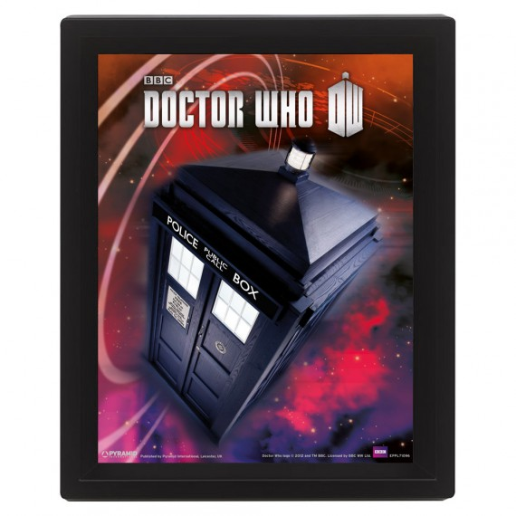 Cadre Tardis flottant relief Doctor Who