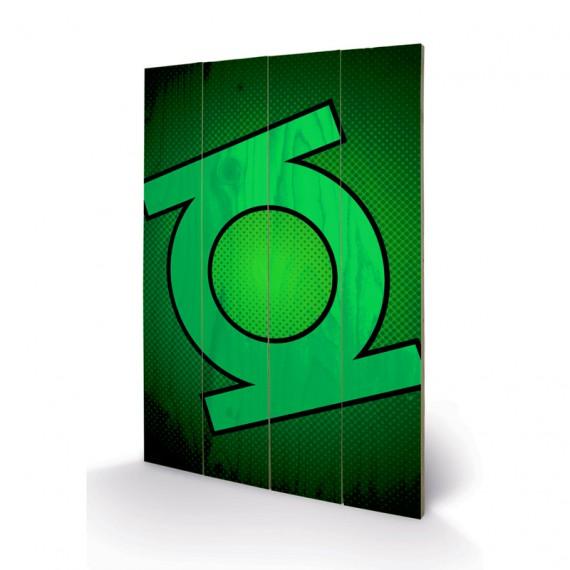 Panneau en bois green lantern DC Comics