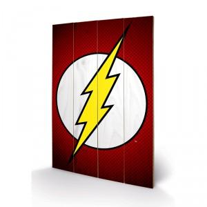 Panneau en bois Flash DC Comics