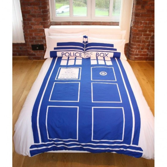 parure de lit double tardis doctor who. Black Bedroom Furniture Sets. Home Design Ideas