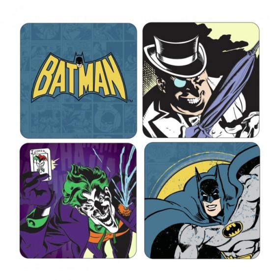 Pack de 4 Dessous de Verre Coasters Batman