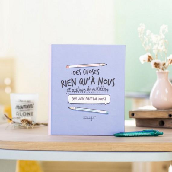 Kit livre couple + stylos - Des choses rien qu'à nous et autres broutilles