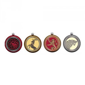 Set de 4 Décorations de Noel Game Of Thrones Blasons