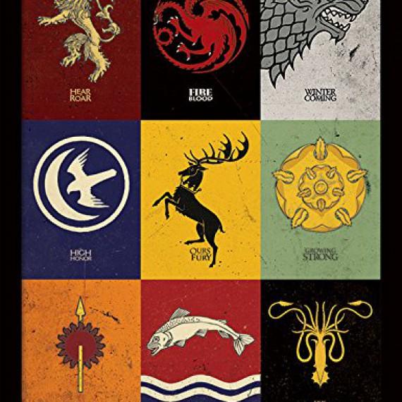 Cadre Game of Thrones Sigils