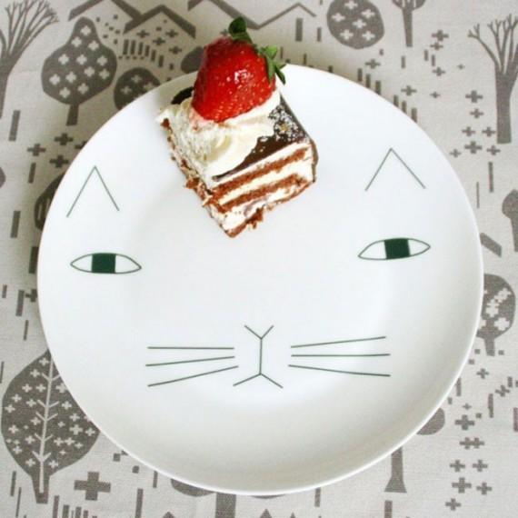 Assiette Mog le chat