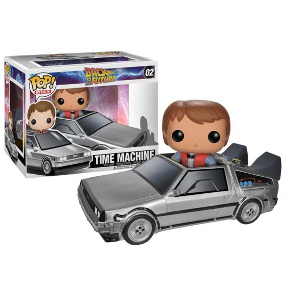Figurine Pop Rides Retour vers le Futur Delorean et Marty