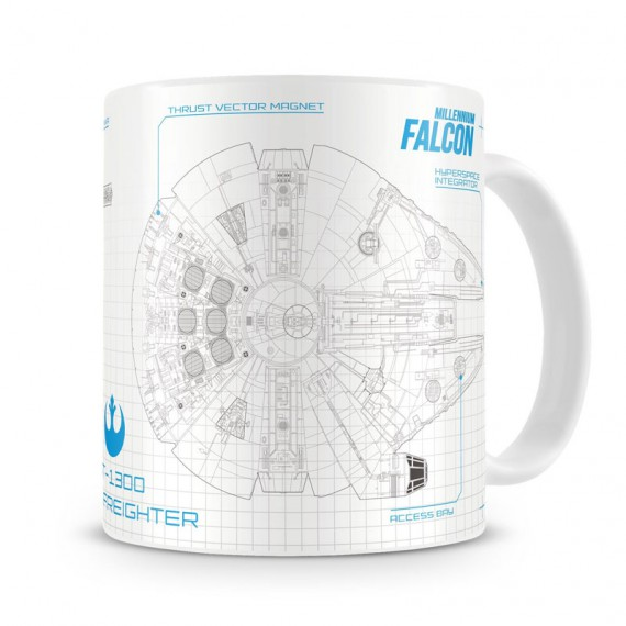 Mug Star Wars Blueprint Faucon Millenium