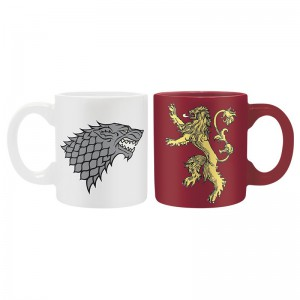 Set 2 tasses Expresso Game Of Thrones Stark et Lannister