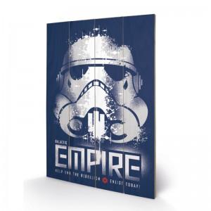 Panneau en bois Star Wars Galactic Empire