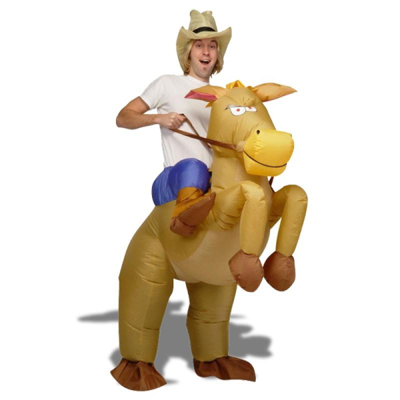 deguisement de cow boy a cheval gonflable costume