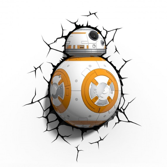 Lampe Murale 3D Star Wars BB-8