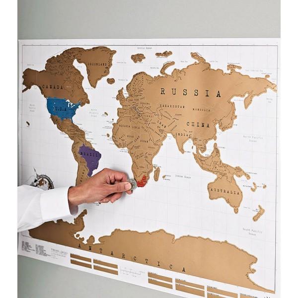 Carte du monde à gratter, édition Voyage | CommentSeRuiner