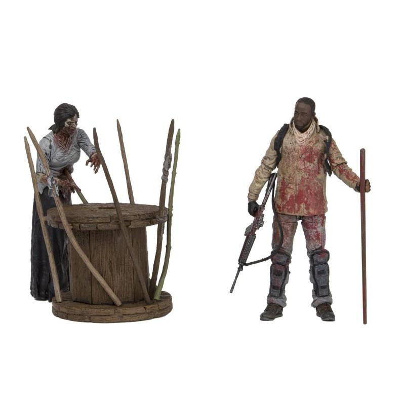 figurine the walking dead morgan l empaleur de zombies. Black Bedroom Furniture Sets. Home Design Ideas