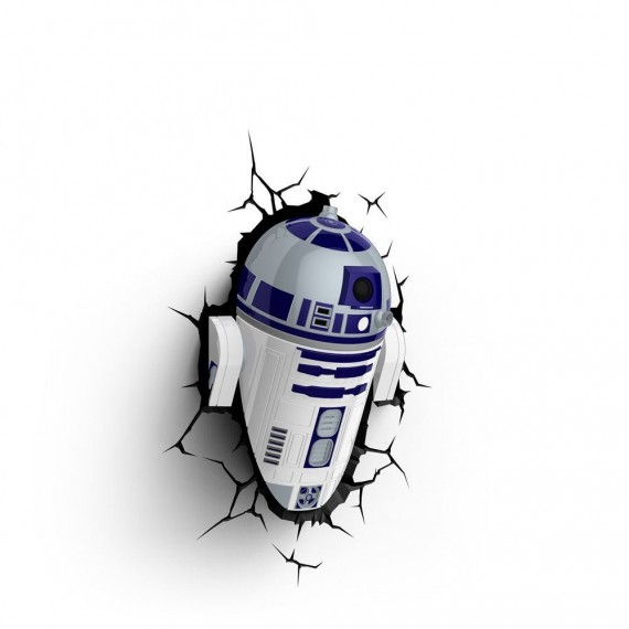 Applique murale 3D Deco light R2-D2 Star Wars