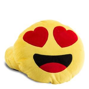 Coussin Smiley Emoji Amoureux