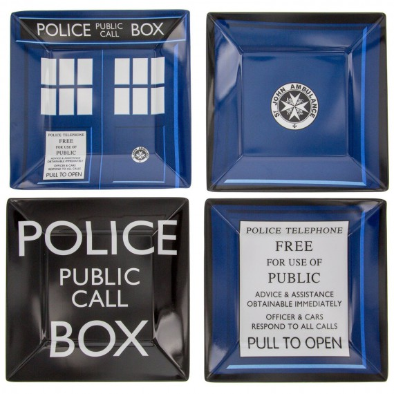 Set de 4 assiettes Doctor Who
