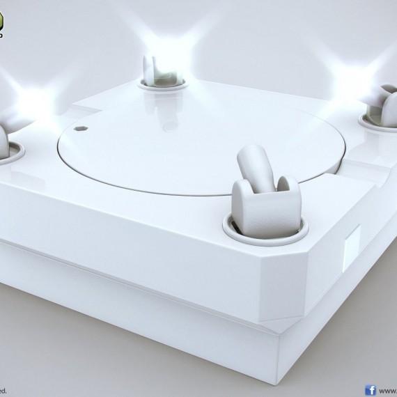 Socle de présentation rotatif avec lumières