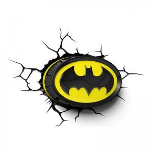 Lampe murale 3D Logo Batman