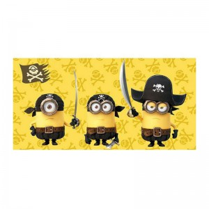 Serviette de plage Minions pirates
