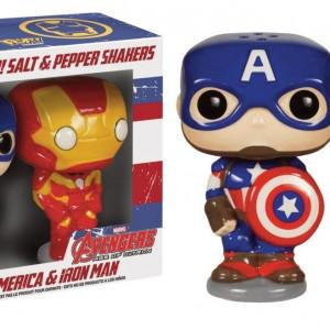 Salière & poivrière POP Captain America & Iron Man