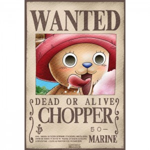 Poster Wanted Chopper One Piece