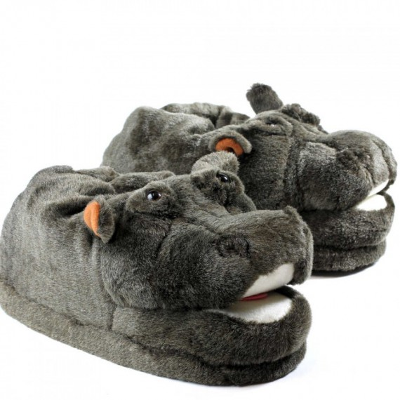 Chaussons animaux Hippopotame