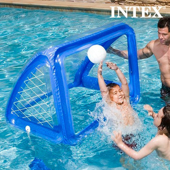 But et ballon gonflables, cage water-polo