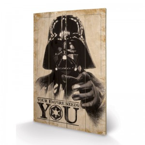Panneau en Bois Star Wars Your Empire Needs You